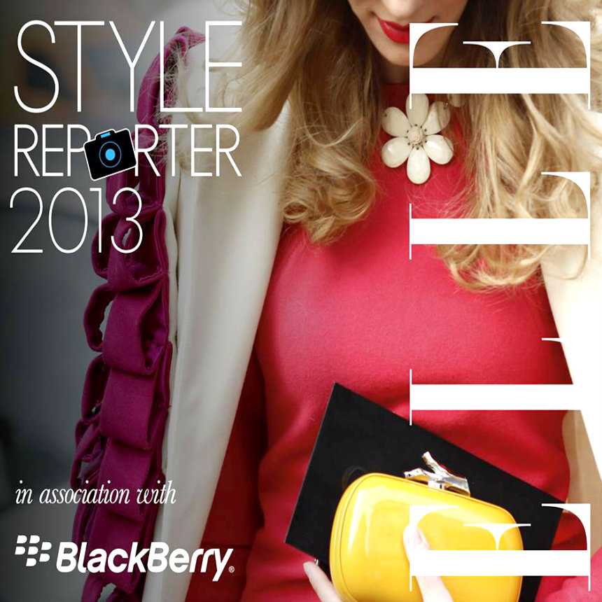 Elle Style Reporter Awards 2013 in association with Blackberry