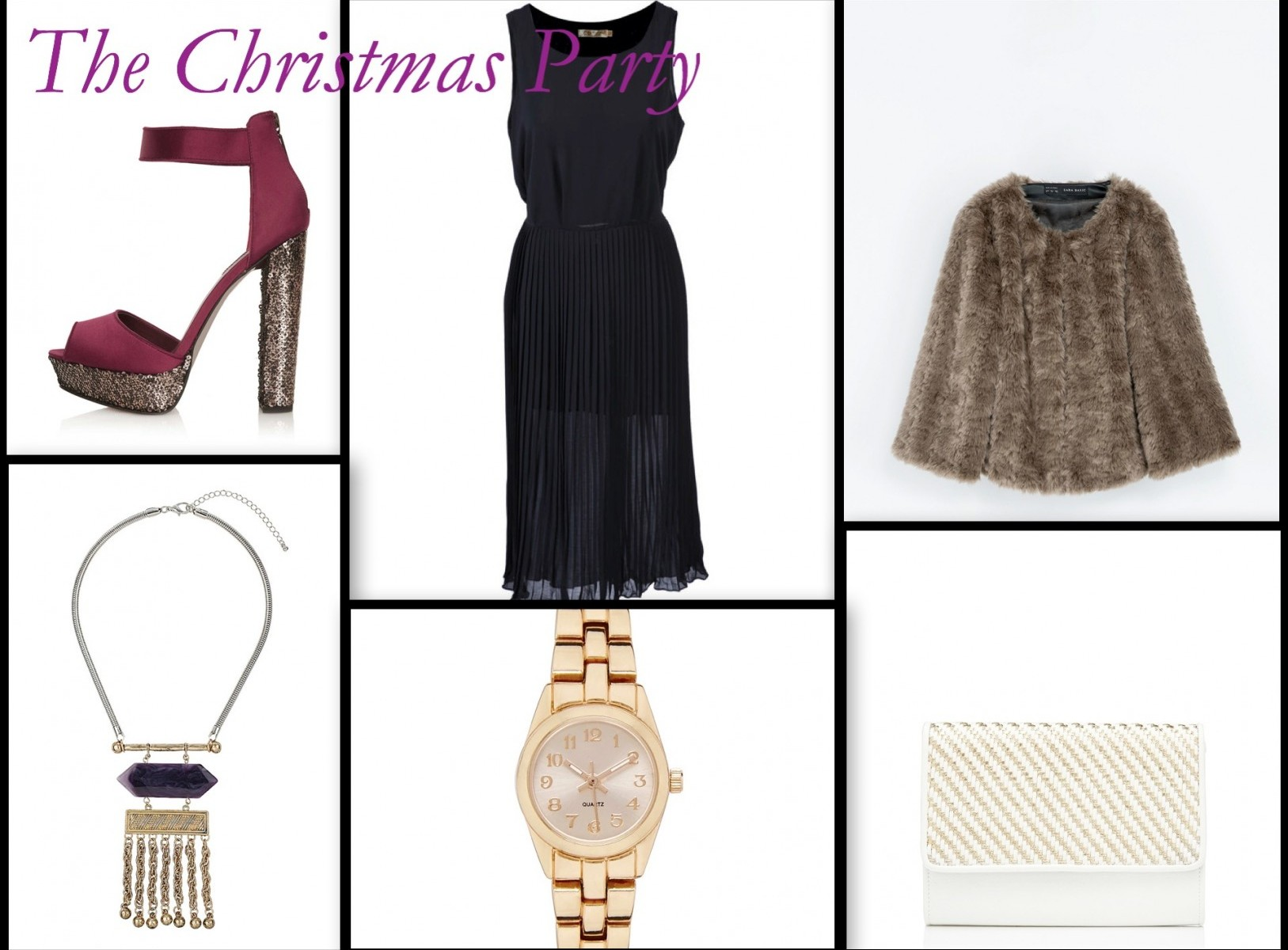 Work Christmas Party Outfit Ideas, LBD, Topshop