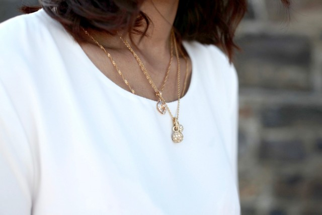 Rose Gold layered necklaces