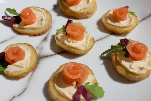 Salmon Canapé recipe ideas; Salmon & Potato