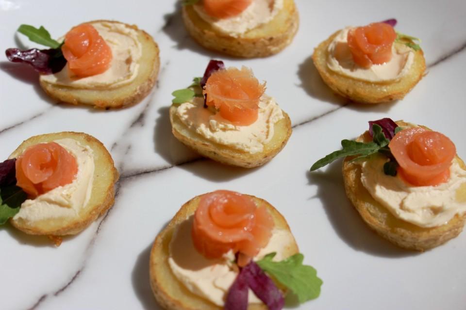 Salmon Canapé recipe ideas; Salmon & Potato