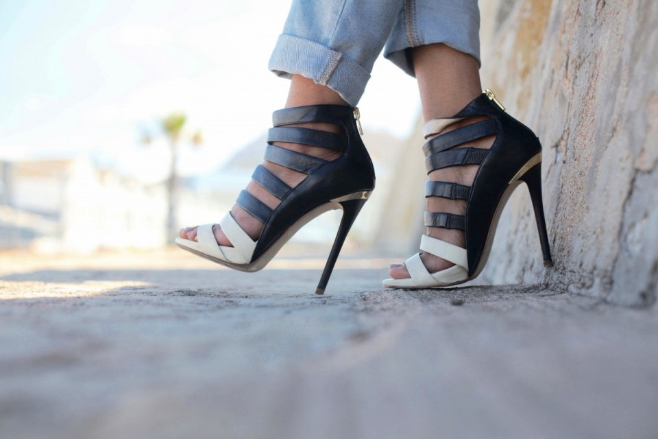 Gladiator booties Aldo shoes