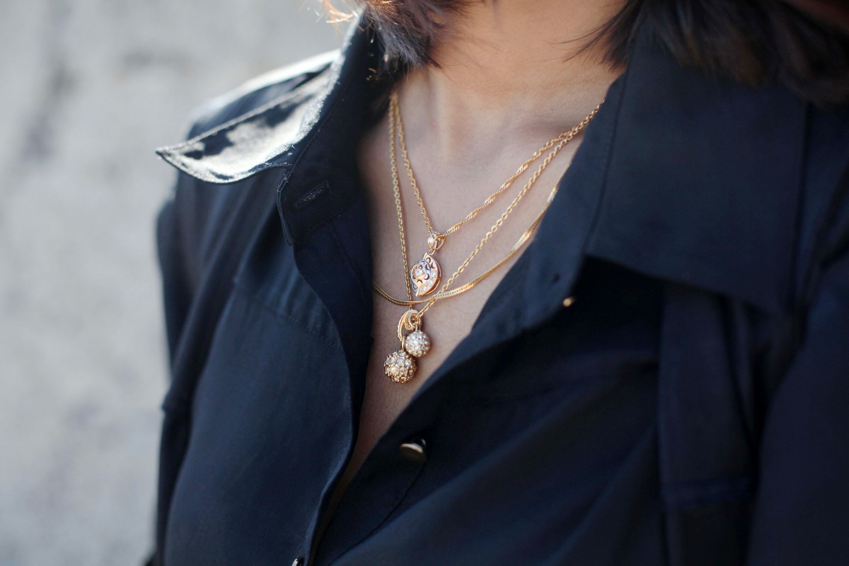 Layered necklaces trend
